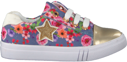 ShoesMe Lace-up Trainers (Jeans Flower)